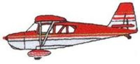 DT1983 Aircraft Embroidery Designs Image