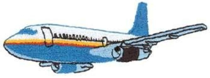 DT1985 Aircraft Embroidery Designs Image