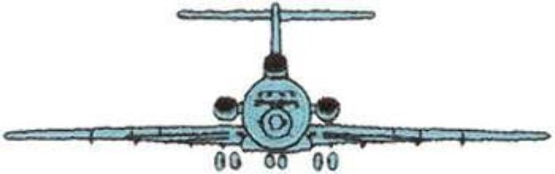 DT2058 Aircraft Embroidery Designs Image