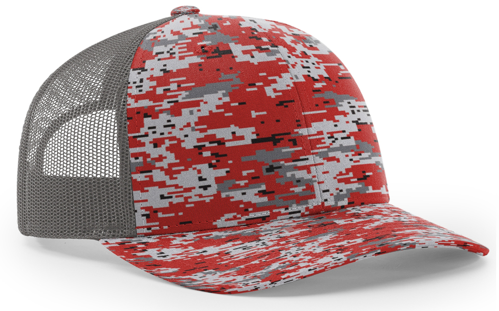 Richardson 112 Trucker Digital Camo Pattern Twill Trucker