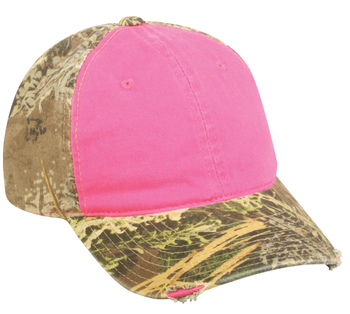 Outdoor Cap Frayed Ladies Camo