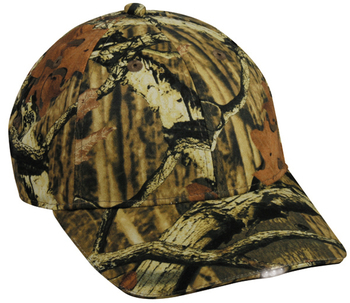 Outdoor Cap: Wholesale Outdoor Brand Camo/Orange Hunting Hat w/ 4 LED Lights
