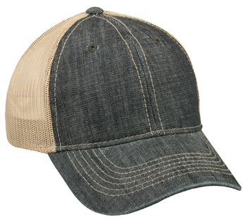 Outdoor Caps: Wholesale Heavy Washed Denim Trucker Hat | Wholesale Caps & Hats