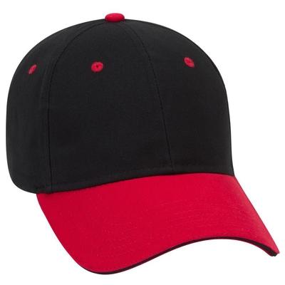 Otto Caps: Brushed Cotton Sandwich Visor | Wholesale Hats & Caps
