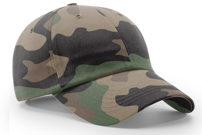 Richardson Hats: Relaxed Camo 6-Panel Cap | Wholesale Blank Caps & Hats