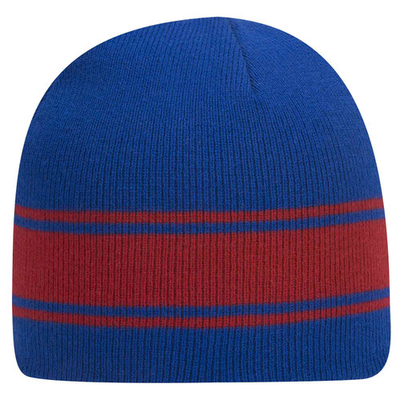 Otto Caps: Wholesale Acrylic Knit Beanie With Stripes - CapWholesalers.com