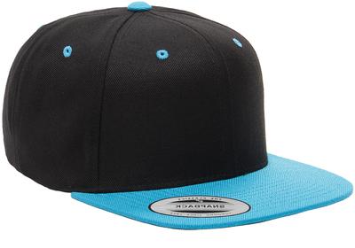 909ca2c42 Yupoong-Two Tone Pro Style Wool Baseball Cap w/Flat Bill | Flat ...