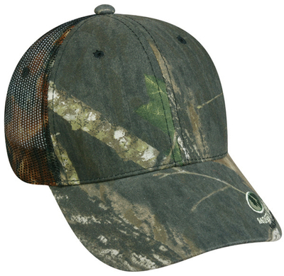 Outdoor Caps: Wholesale Outdoor Camo Mesh Back with Visor Logo | CapWholesalers