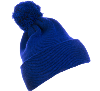 Yupoong Caps: Wholesale Pom Pom Beanie Cuffed Knit Hat | CapWholesalers.com
