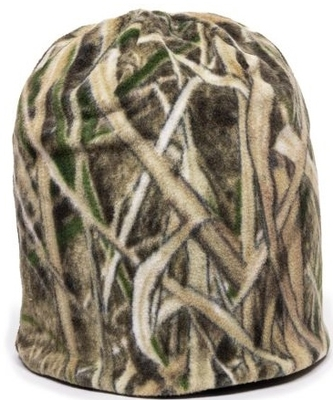 Outdoor Caps: Wholesale Camo Reversible Fleece Beanie | CapWholesalers