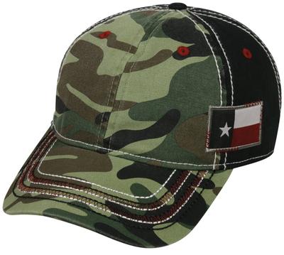 Outdoor Caps: Camo with Flag Cap | Wholesale Blank Caps & Hats | CapWholesalers