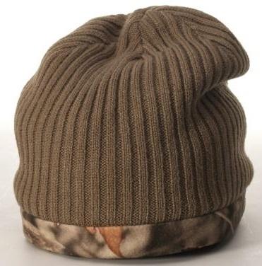 Richardson Caps: Wholesale Reversible Camo Knit Cap With Fleece Liner