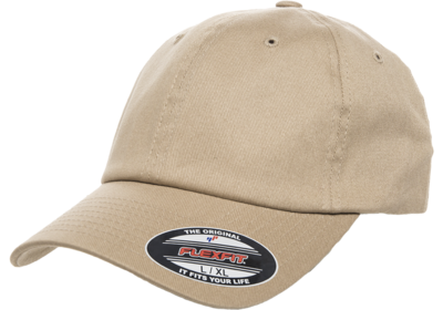 Yupoong Flexfit Cotton Twill Dad Hat | Wholesale Blank Caps
