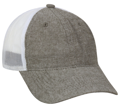 Outdoor Caps: Wholesale Chambray Heavy Washed, Mesh Back | CapWholesalers