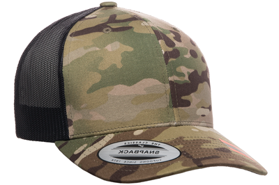 8085822252e02d Yupoong Multicam Camo Retro Trucker Cap | Wholesale Caps & Hats From ...