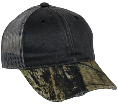 Outdoor Frayed Camo Mesh Back | Wholesale Caps From Cap Wholesalers