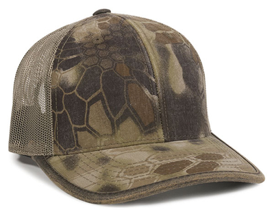 Outdoor 6 Panel Weathered Cotton Binding Mesh Back | Wholesale Blank Caps & Hats | CapWholesalers