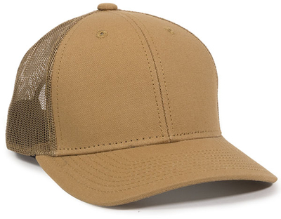 Outdoor Structured Canvas Trucker Mesh Back | Wholesale Blank Caps & Hats | CapWholesalers