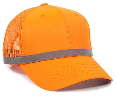 Outdoor 6 Panel ANSI Reflective Crown Taping Anti Glare Mesh Back | Wholesale Blank Caps & Hats | CapWholesalers
