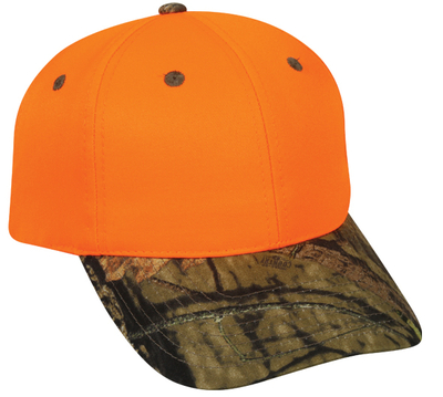 Outdoor 6 Panel Blaze Camo Bill | Cap Wholesalers