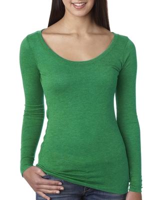 Next Level Ladies Triblend Long-Sleeve Scoop | Ladies Long Sleeve Tees