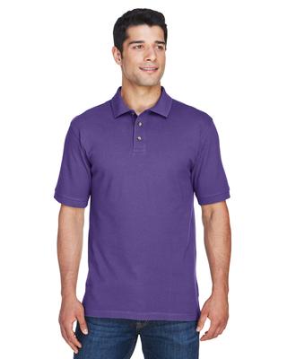 Harriton Mens 6 oz. Ringspun Cotton Pique Short-Sleeve Polo   Mens Fleece/Outerwear
