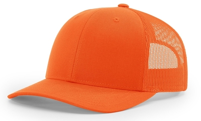 Richardson Blaze Orange Trucker Cap | Wholesale Blank Caps & Hats | CapWholesalers