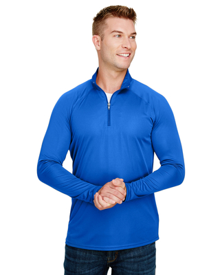 Buy A4 Adult Daily Polyester with 1/4 Zip Performance Shirts -CapWholesalers.com