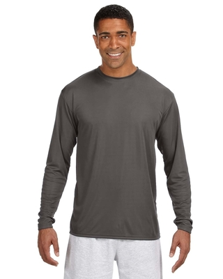A4 Mens Cooling Performance Long Sleeve T-Shirt | Performance Athletic Shirts