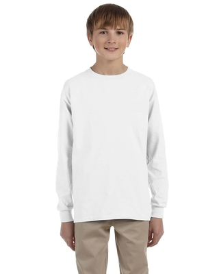 Jerzees Youth 5.6 oz. DRI-POWER ACTIVE Long Sleeve T-Shirt | Jerzee