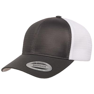 Flexfit Caps: ALL Mesh Adjustable 2 Tone Trucker Cap -Wholesale Blank Hats
