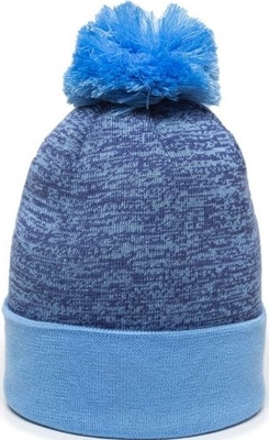 Outdoor Pixel Watch Hat With Pom Pom | Knit Beanies : Custom, Blank and Wholesale Beanies