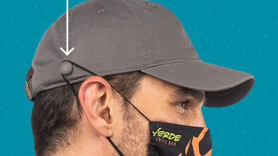 Outdoor Caps: Relaxed Cap w/Mask Holder -Wholesale Blank Hats
