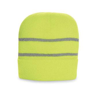 Richardson Caps: Hi Viz Beanie With Reflective Stripe | CapWholesalers