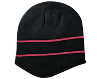 Image Otto Acrylic Knit Beanie with Stripes