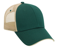 Image Otto-Cotton Twill Colored Edge Visor Low Profile Pro Style Meshback Cap