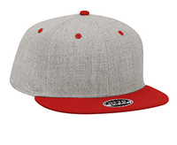 Otto-Heather Wool Blend Flat Visor Pro Style Snapback