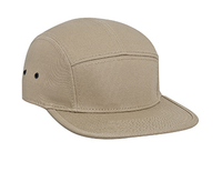Otto-Cotton Twill Square Flat Visor with Binding Edge Five Panel Camper