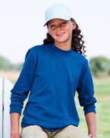 Blank Youth Shirts : Jerzees 5.6 oz 50/50 Long-Sleeve Tee