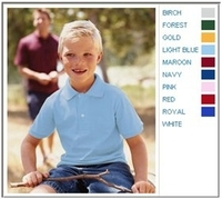 Jerzees 5.6 oz 50/50 Jersey Knit Youth Polo with SpotShield Stain Resistance