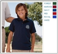 Jerzees 6.5 oz Cotton Pique Youth Polo