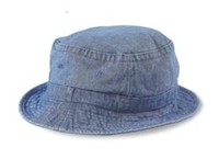 Stone Washed Denim Bucket Hat
