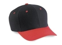 Image 6-Panel Two Tone Pro Style Wool Blend baseball cap