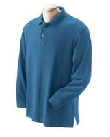 Devon & Jones Men's Pima Piqué Long-Sleeve Polo