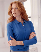 Devon & Jones Ladies Pique Long-Sleeve Polo
