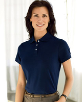 Devon & Jones Ladies Solid Pima Polo