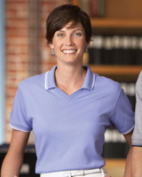 Ladies Tipped Pima Interlock Polo