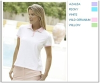 Devon & Jones Pink Stretch Tennis Polo