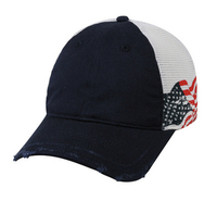 Image Outdoor Printed US Flag Distressed Torn Cap