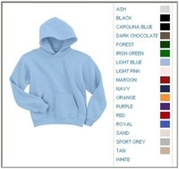 Blank Shirts : Gildan 7.75 oz 50/50 Blend Youth Hooded Sweatshirt